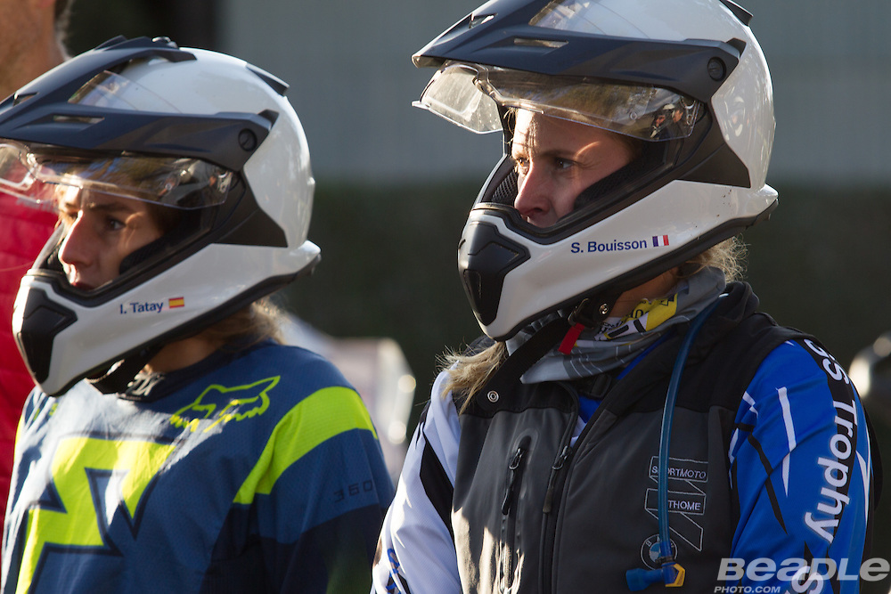 Ten female motorcycle riders from different countries participated in the inaugural GS Trophy Female qualifying event at the 2015 BMW Motorrad GS Trophy Female Team Qualifying Event held at Countrytrax Amersfoort, South Africa. Image by Greg Beadle