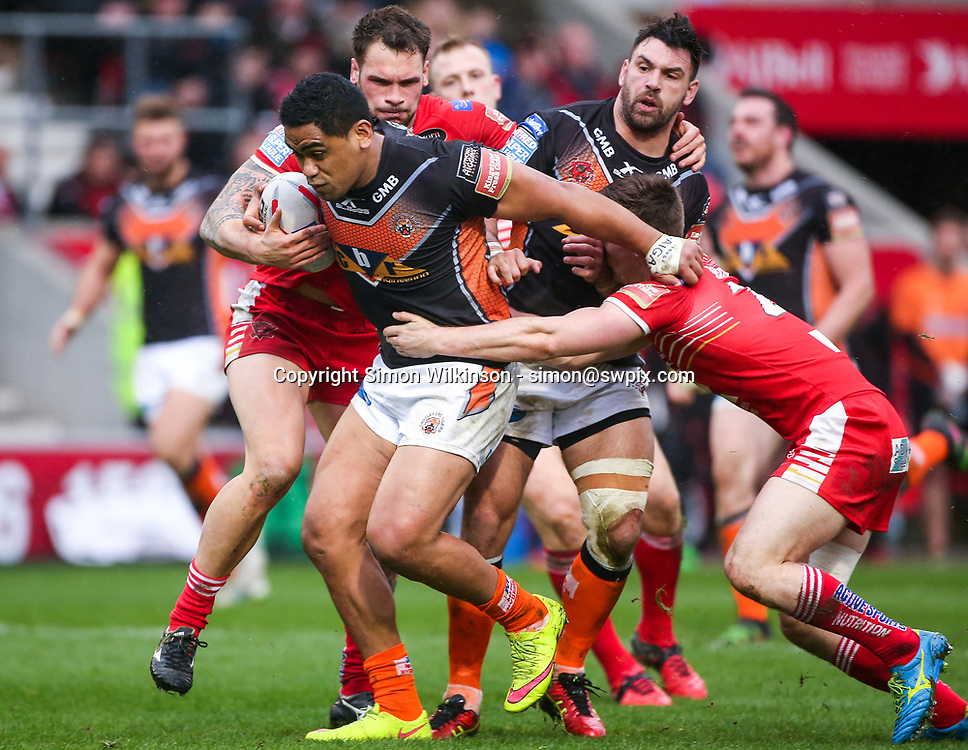Picture by Alex Whitehead/SWpix.com - 19/03/2017 - Rugby League - Betfred Super League - Salford Red Devils v Castleford Tigers - AJ Bell Stadium, Salford, England - Castleford's Junior Moores.