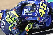 #46 Valentino Rossi, Italian: Movistar Yamaha MotoGP during the MotoGP Gran Premio Red Bull de Espana at Circuito de velocidad de Jerez, Jerez De La Frontera, Spain on 5 May 2018. Picture by Graham Holt.