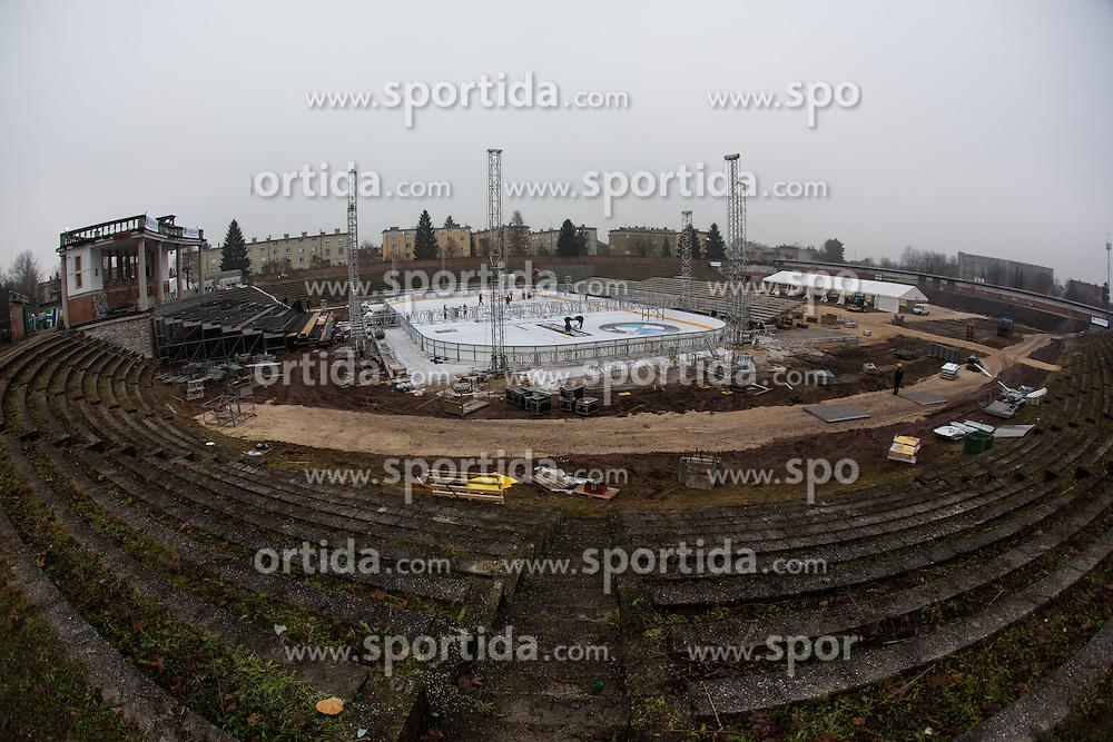 Preparing stadium Bezigrad for Winter Classic of HDD Olimpija Ice Fest 2013, on December 30, 2012 in Stadium Bezigrad, Ljubljana, Slovenia. (Photo By Matic Klansek Velej / Sportida.com)