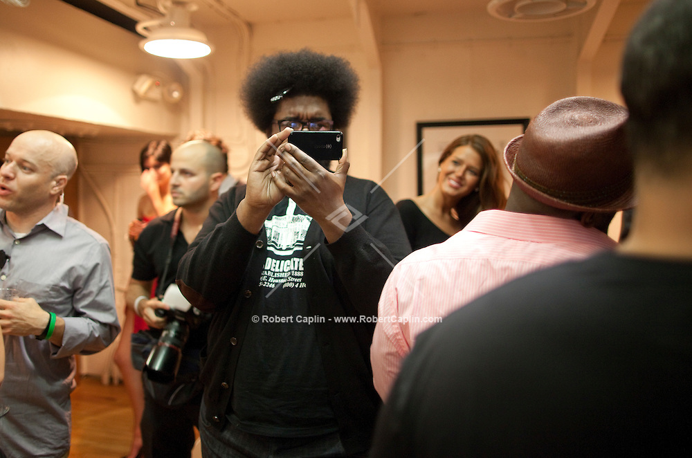 Backstage with The Roots prior to their performance at the Wounded Warriors Gala at the Intrepid Sea, Air & Space Museum in New York. ..Photo by Robert Caplin.