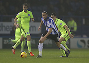 Sheffield Wednesday striker Atdhe Nuhiu (9) during the Sky Bet Championship match between Sheffield Wednesday and Brighton and Hove Albion at Hillsborough, Sheffield, England on 3 November 2015.