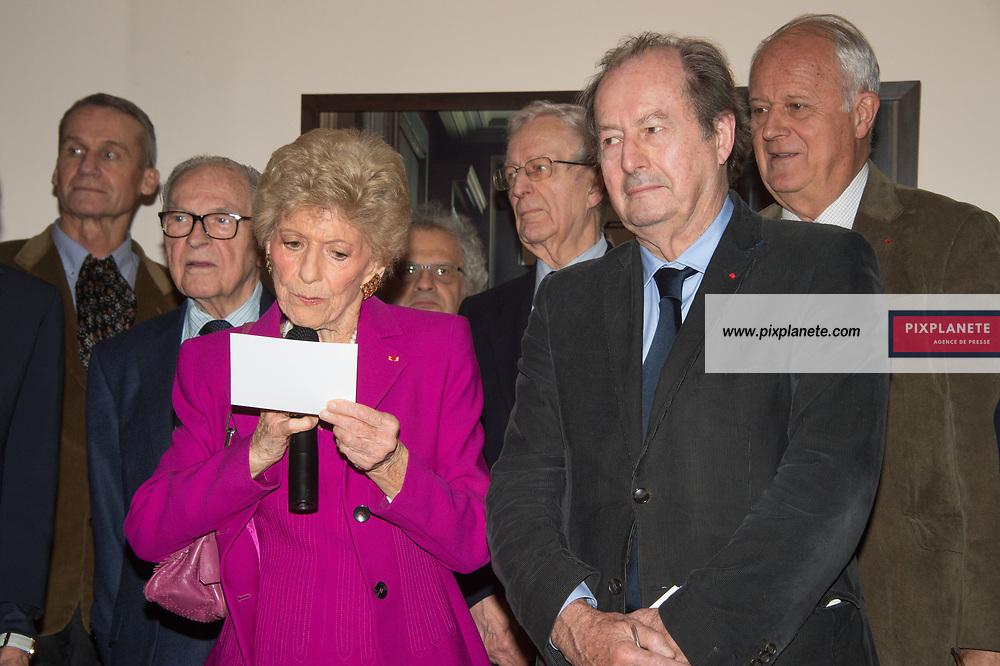 Hélène Carrère d'Encausse - Jean Marie Rouart  annonce du grand prix du roman  Grand Prix du roman de l'Académie Française 2019 jeudi 31 Octobre 2019 Académie Française Paris