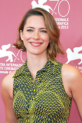 04.09.2013, Canal Grande, Venedig, ITA, La Biennale, 70. Filmfestspiele von Venedig, A Promise, im Bild Actress Rebecca Hall // during a photocall for the movie 'a Promise' of the 70th Venice International Film Festival at Canal Grande in Venice, Italy on 2013/09/04. EXPA Pictures © 2013, PhotoCredit: EXPA/ Newspix/ Daziram<br /> <br /> ***** ATTENTION - for AUT, SLO, CRO, SRB, BIH, TUR, SUI and SWE only *****
