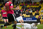 Graham Webster opens the scoring - Dundee v Southend United - East Fife Tournament at New Bayview<br /> <br /> &copy; David Young<br /> <br /> <br /> http://www.davidyoungphoto.co.uk