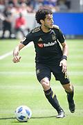 Los Angeles FC defender Omar Gaber (4) during a MLS soccer match in Los Angeles, Saturday, May 5, 2018. (Eddie Ruvalcaba/Image of Sport)
