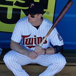 March 13, 2011; Fort Myers, FL, USA; Minnesota Twins first baseman Justin Morneau (33) before a spring training exhibition game against the Philadelphia Phillies at Hammond Stadium.   Mandatory Credit: Derick E. Hingle