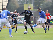 Dundee's Gary Harkins goes past St Johnstone's Frazer Wright -  St Johnstone v Dundee, SPFL Premiership at McDiarmid Park<br /> <br />  - &copy; David Young - www.davidyoungphoto.co.uk - email: davidyoungphoto@gmail.com