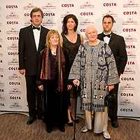 London Jan 27  From L to R Sebastian Barry, Michelle Magorian, Sadie Jones, Diana Athill, Adam Foulds attend the Costa Book Award at the Intercontinental Hotel in Lonodn England on January 27 2009...***Standard Licence  Fee's Apply To All Image Use***.XianPix Pictures  Agency . tel +44 (0) 845 050 6211. e-mail sales@xianpix.com .www.xianpix.com
