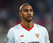 SEVILLE, SPAIN - NOVEMBER 01:  Steven N'Zonzi of Sevilla FC looks on priot to the UEFA Champions League group E match between Sevilla FC and Spartak Moskva at Estadio Ramon Sanchez Pizjuan on November 1, 2017 in Seville, Spain.  (Photo by Aitor Alcalde Colomer/Getty Images)