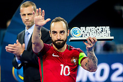 Ricardinho of Portugal during medal ceremony after the Final match of UEFA Futsal EURO 2018, on February 10, 2018 in Arena Stozice, Ljubljana, Slovenia. Photo by Ziga Zupan / Sportida