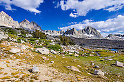 The Palisades above Dusy Basin, Kings Canyon National Park, California USA