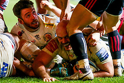 Jack Yeandle of Exeter Chiefs scores a try - Mandatory by-line: Robbie Stephenson/JMP - 30/11/2018 - RUGBY - Twickenham Stoop - London, England - Harlequins v Exeter Chiefs - Gallagher Premiership Rugby