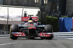 Formula One World Championship 2012 Grand Prix Monaco. Lewis Hamilton, McLaren Mercedes during practice. Thursday May 24, 2012. Photo By imago/i-Images