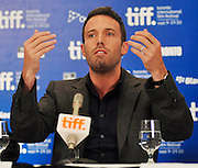 10.SEPT.2010. TORONTO<br /> <br /> BEN AFFLECK ATTENDS THE TOWN PRESS CONFRENCE AT THE 35TH TORONTO FILM FESTIVAL IN TORONTO.<br /> <br /> BYLINE: EDBIMAGEARCHIVE.COM<br /> <br /> *THIS IMAGE IS STRICTLY FOR UK NEWSPAPERS AND MAGAZINES ONLY*<br /> *FOR WORLD WIDE SALES AND WEB USE PLEASE CONTACT EDBIMAGEARCHIVE - 0208 954 5968*