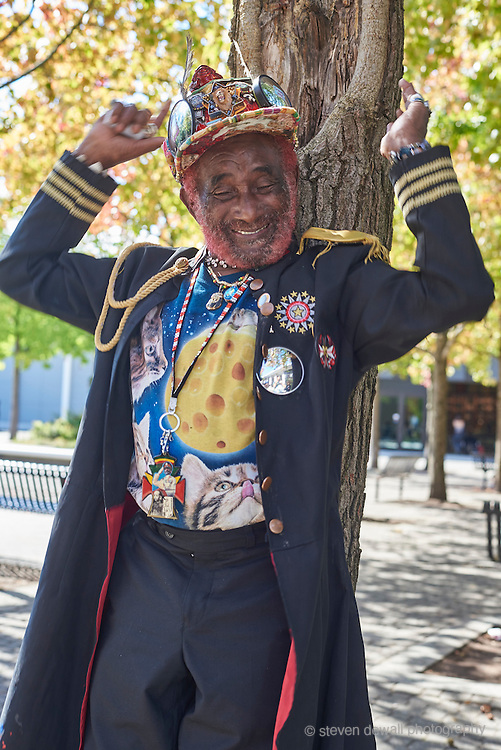 Lee Scratch Perry poses for a portrait at KEXP after his performance in Seattle, WA. on September 20th, 2016.