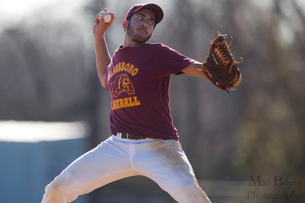 Glassboro High School baseball hosts St. Joseph's High School (Hammonton) for a scrimmage in Glassboro, NJ  on Monday March 19, 2012. (photo / Mat Boyle)