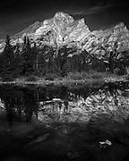 Mount Kidd reflection pools along hwy40 in Kananaskis, AB