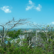 JULY 21, 2018---ARECIBO, PUERTO RICO---<br /> View of the Tiburones Water Reserve in Arecibo on the North of the island. An electrical company station is seen in the middle of the image.<br /> (Photo by Angel Valentin/Freelance)