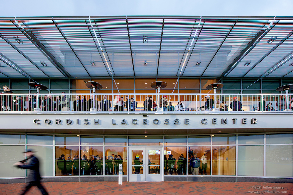 Architectural exterior image of the JHU Cordish Lacrosse Center by Jeffrey Sauers of Commercial Photographics
