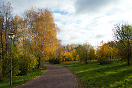 Autumn in Moscow park. Look at - https://www.astikhin.com/gallery-image/Russia/G0000oLj.IyHWJuw/I0000JzWHcJURRLE.<br /> This is the same place after 20 years.
