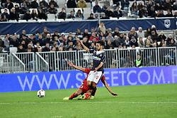 March 18, 2017 - Bordeaux, France - Faute de Daniel Congre (mhsc) sur Adam Ounas (gir) et Carton Rouge pour Congre (Credit Image: © Panoramic via ZUMA Press)