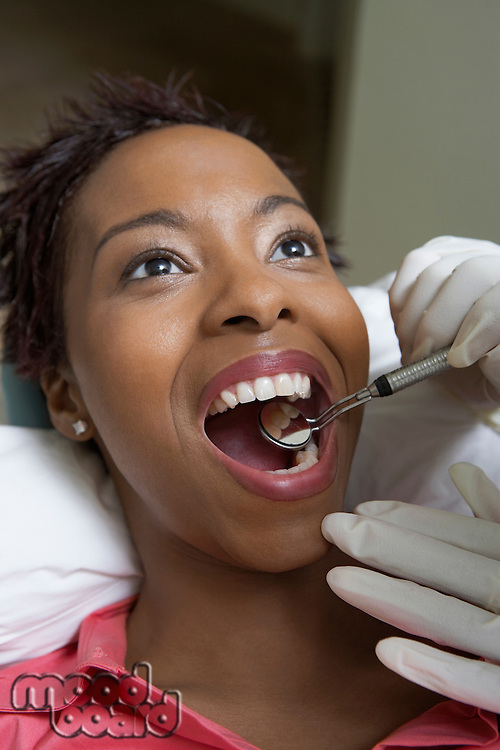 Woman Getting Dental Exam
