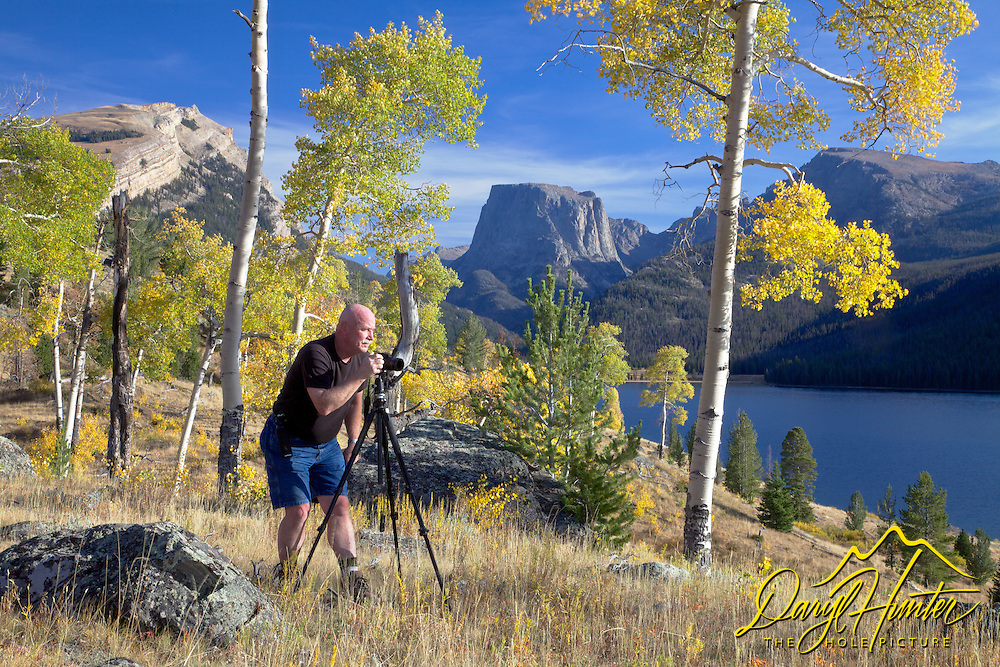 Photographer, Jerrry Patterson, autumn colors, golden aspen, Square Top Mountain, Green River Lake, Pinedale, Wyoming