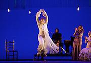 Gala Flamenca <br /> Flamenco Festival London <br /> at Sadler's Wells, London, Great Britain <br /> 23rd February 2017 <br /> <br /> Juana Amaya<br /> Olga Pericet <br /> Jesus Carmona<br /> Patricia Guerrero <br /> <br /> guest singer <br /> Rocio Marquez <br /> <br /> Photograph by Elliott Franks <br /> Image licensed to Elliott Franks Photography Services