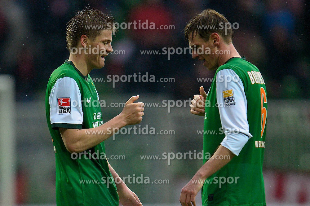 27.03.2010, Weser Stadion, Bremen, GER, 1.FBL, Werder Bremen vs 1. FC Nuernberg, im Bild  Jubel Sebastian Prödl / Proedl( Werder  #15) und Tim Borowski ( Werder  #06)   EXPA Pictures © 2010, PhotoCredit: EXPA/ nph/  Kokenge / SPORTIDA PHOTO AGENCY