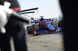 February 21, 2019 - Barcelona, Spain - Thai driver Alexander Albon of Italian team Red Bull Toro Rosso Honda driving his single-seater STR14 during Barcelona winter test in Catalunya Circuit in Montmelo, Spain  (Credit Image: © Andrea Diodato/NurPhoto via ZUMA Press)