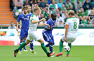 N'Golo Kante of Chelsea takes on the SV Werder Bremen defence during the pre season friendly match at Weserstadion, Bremen, Germany.<br /> Picture by EXPA Pictures/Focus Images Ltd 07814482222<br /> 07/08/2016<br /> *** UK & IRELAND ONLY ***<br /> EXPA-EIB-160807-0231.jpg