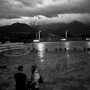 Italy, Basilicata- On the main place of Pedali di Viggianello, waiting the arrival of the fir tree © 2012 Mama2