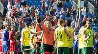 ANTWERP -   The Australian team before  the final Australia vs Belgium (1-0). In the middle goalie Tyler Lovell.  WSP COPYRIGHT KOEN SUYK