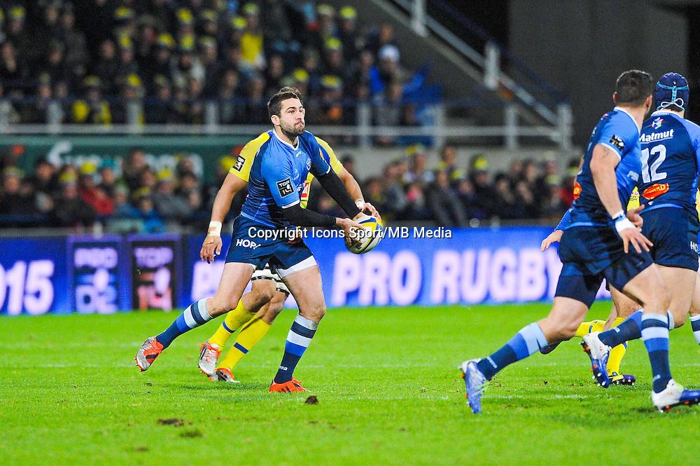 Remi Tales  - 20.12.2014 - Clermont / Castres - 13eme journee de Top 14 -<br /> Photo : Jean Paul Thomas / Icon Sport