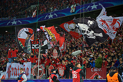 MOSCOW, RUSSIA - Tuesday, September 26, 2017: FC Spartak Moscow supporters during the UEFA Champions League Group E match between Spartak Moscow and Liverpool at the Otkrytie Arena. (Pic by David Rawcliffe/Propaganda)