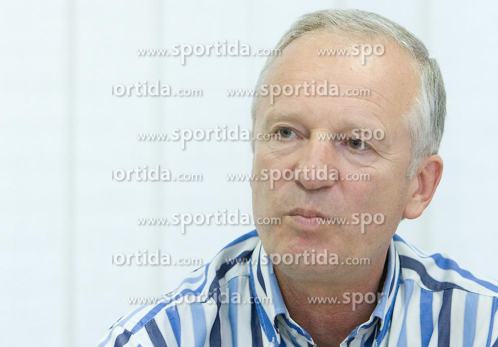 Branko Florjanic, president of Zduzenje 1. SNL at press conference of Prva Liga 1. SNL before new season 2009/2010, on July 15 2009, in Ljubljana, Slovenia. (Photo by Vid Ponikvar / Sportida)