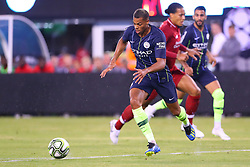 July 25, 2018 - East Rutherford, NJ, U.S. - EAST RUTHERFORD, NJ - JULY 25:  Manchester City forward Lukas Nmecha (43) during the first half of the International Champions Cup Soccer game between Liverpool and Manchester City on July 25, 2018 at Met Life Stadium in East Rutherford, NJ.  (Photo by Rich Graessle/Icon Sportswire) (Credit Image: © Rich Graessle/Icon SMI via ZUMA Press)