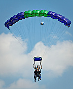 Another first time skydiver at West Tennessee Skydiving coming in for his landing.