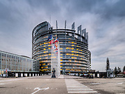 Strasbourg's implantation of the European Parliament - Outside view<br />  Crédit Paul Marnef / ISOPIX    **** REFERENCE : 00030710 ****<br />  Photo, Foto : ISOPIX (BELGIË, BELGIQUE - Brussel, Bruxelles)