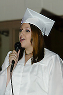 Claryssa Caryn Jacques sings during the Vandalia-Butler High School commencement at the BHS Student Activity Center in Vandalia, Friday, June 3, 2011.