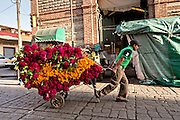 Flower vendors at the Benito Juarez Market in Oaxaca, Mexico.