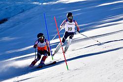 BURTON Kevin, Guide: GRIMMELMANN Kurt, B2, USA, Slalom at the WPAS_2019 Alpine Skiing World Cup, La Molina, Spain