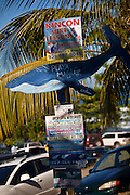 Sign marking the famous surf beach Las Marias in Rincon Puerto Rico