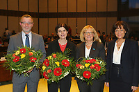 Ludwigshafen. 11.12.17 | <br /> Die Mitglider des Ludwigshafener Stadtrats w&auml;hlen die neuen B&uuml;rgermeister (Dezernenten)<br /> - v.l. Klaus Dillinger (CDU), Cornelia Reifenberg (CDU), Beate Steeg (SPD), Eva Lohse Oberb&uuml;rgermeisterin CDU bis 01.01.2018<br /> Bild: Markus Prosswitz 11DEC17 / masterpress (Bild ist honorarpflichtig - No Model Release!) <br /> BILD- ID 01383 |