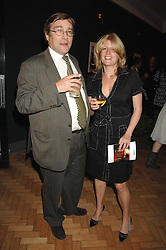 Writer RACHEL JOHNSON and her husband at a party to celebrate the 60th anniversary of House & Garden magazine held at Bonhams, 101 New Bond Street, London on 4th October 2007.<br />