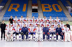Group photo during Media day of Slovenian Ice Hockey National Team before World Championships Group A in Sweden, Stockholm, on April 29, 2013, in Ice arena Tabor, Maribor, Slovenia. (Photo By Vid Ponikvar / Sportida.com)