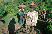 TISSISAT, GOJJAM/ETHIOPIA..Tissisat villagers..(Photo by Heimo Aga)