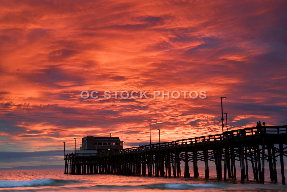 The Newport Pier At Sunset Orange County, California