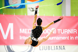 Natela Bolataeva of Georgia competes during 31st MTM - International tournament in rhythmic gymnastics Ljubljana, on April 7, 2018 in Gymnastics center Ljubljana, Ljubljana, Slovenia. Photo by Matic Klansek Velej / Sportida